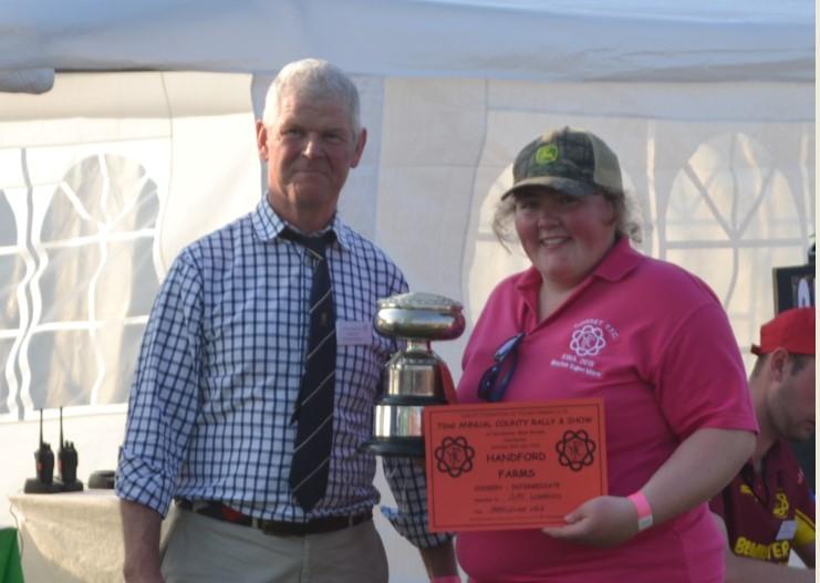 Hansford Farm Trophy presented to Amy Wonnacott